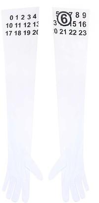 MM6 MAISON MARGIELA Logo Printed Long-Sleeve Gloves