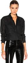 Anthony Vaccarello 4 Pocket Long Sleeve Shirt