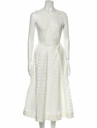 Roland Mouret Halterneck Long Dress White