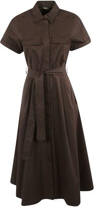 Loro Piana Belted Waist Short-sleeve Dress