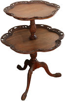 One Kings Lane Vintage Mahogany Pie-Crust Butler Table