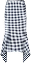 Rosetta Getty checked draped skirt
