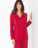 Soma Intimates Breathtaking Long Sleeve Pajama Top Ruby