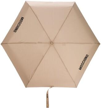 Moschino Couture-Print Umbrella