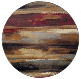 Dakota Tayse Rugs Contemporary Abstract Area Rug, Multi-Color, 7'10'' Round