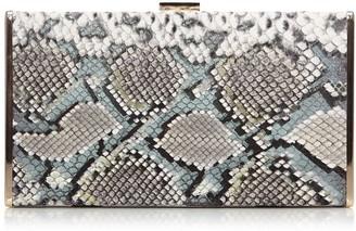 Moda In Pelle Classoclutch Metallic Snake Print