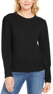Style&Co. Style & Co Puffy-Sleeve Sweater, Created for Macy's