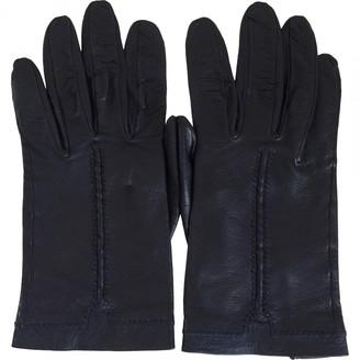 Hermes Blue Leather Gloves