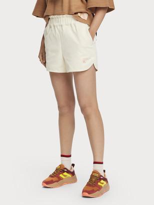 Scotch & Soda Medium-rise elastic waist technical shorts   Women