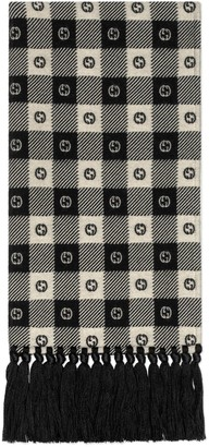 Gucci G check wool scarf