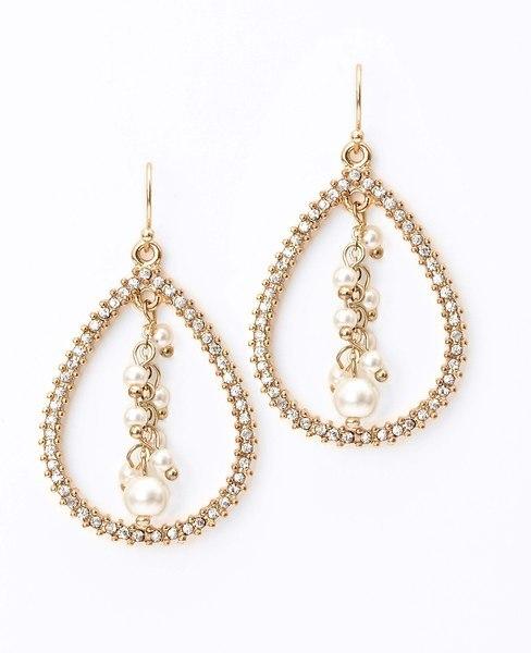 Ann Taylor Pave Teardrop Earrings