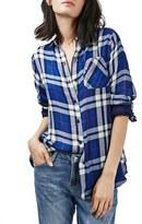 Topshop Women's 'Ali' Check Double Pocket Shirt