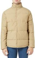 Topman Men's Wax Coated Puffer Jacket