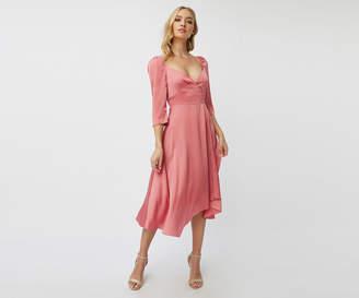 Oasis Satin Button Midi Dress