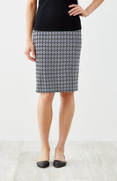 J. Jill Wearever Jacquard Pencil Skirt