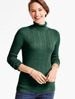 Talbots Cable-Ribbed Turtleneck