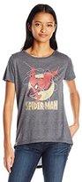 Marvel Women's Spiderman High Low Drapey Graphic Tee