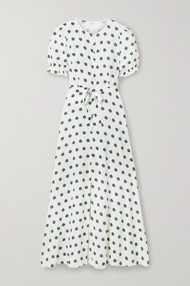 Peony Swimwear Poolside Polka-dot Woven Maxi Dress - Off-white