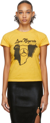 Mowalola SSENSE Exclusive Yellow Love Nigeria Baby Fit T-Shirt