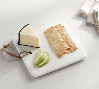 Pottery Barn White Marble Square Cheese Board
