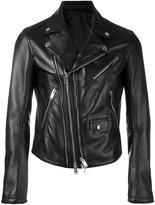 Les Hommes classic biker jacket - men - Lamb Skin/Viscose - 46