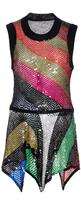 Sonia Rykiel Sequins Knit Tank Top