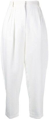 Erika Cavallini Tapered Linen Trousers