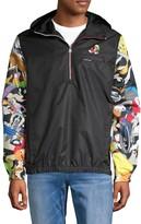 Members Only Looney Tunes Half-Zip Hooded Jacket