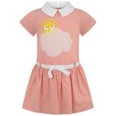 Fendi FendiGirls Pink Cotton Sunshine Dress