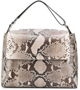 Orciani snakeskin effect tote