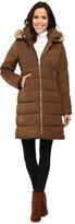Vince Camuto Zip Front Faux Fur Trim Down L1991 Women's Coat