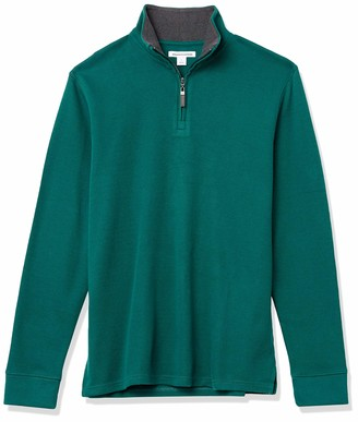 Amazon Essentials Men's Long-Sleeve Quarter-Zip French Rib Sweater