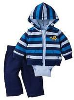 Gerber Baby Boys' Bulldozer Hooded Jacket, Short-Sleeve Onesie®; and Pant Set - ...