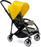 Bugaboo Bee 3 Black Frame Stroller With Dark Khaki Seat (Bright Yellow) by