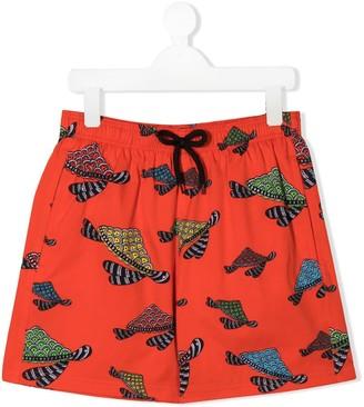 Vilebrequin Kids TEEN turtle swim shorts