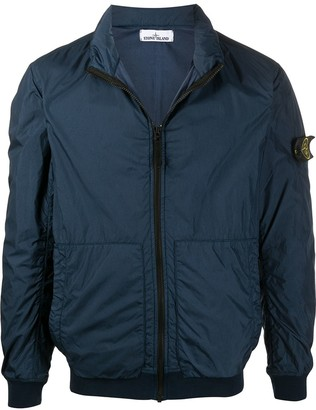 Stone Island Long Sleeve Zipped Logo Patch Jacket