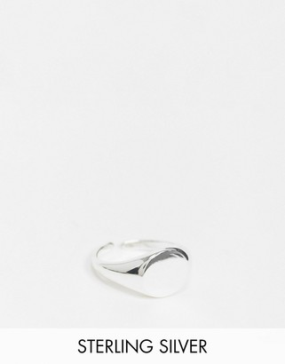 Pieces 18K plated signet ring in sterling silver