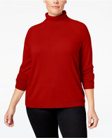 Karen Scott Plus Size Luxsoft Turtleneck Sweater, Only at Macy's