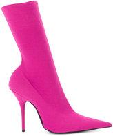 Balenciaga Knife crepe booties - women - Leather/Neoprene/Spandex/Elastane - 37