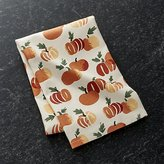 Crate & Barrel Stamped Pumpkin Dish Towel