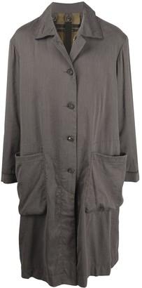 Ziggy Chen Oversized Pouch Pocket Single-Breasted Coat