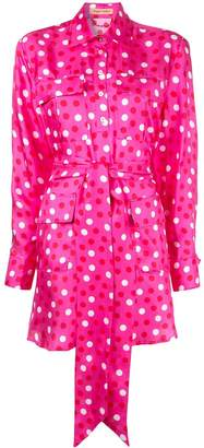 Maggie Marilyn polka dot mini shirt dress