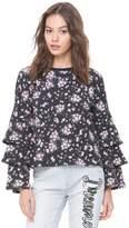 Juicy Couture Beverly Garden Ruffle Sleeve Sweatshirt