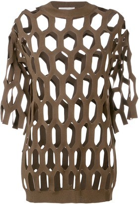 Sonia Rykiel cut out knitted top