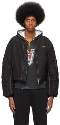 Pyer Moss Black Logo Bomber Jacket