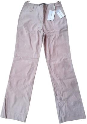 Salvatore Ferragamo Pink Suede Trousers for Women Vintage
