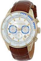 Vince Camuto Men's VC/1043WTGP The Admiral Dress Chronograph Gold-Tone Brown Leather Strap Watch