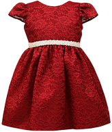 Jayne Copeland Red Beaded Lace Dress - Toddler & Girls