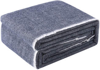Accessorize Navy Herringbone Wool Blanket