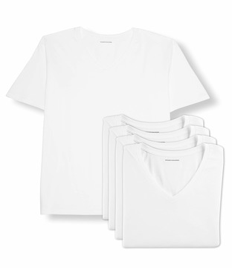 Amazon Essentials Men's Big-Tall 5-Pack V-Neck Undershirts Shirt